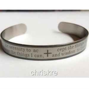 Jewelry - Serenity Prayer Bracelet Bangle Stainless Steel